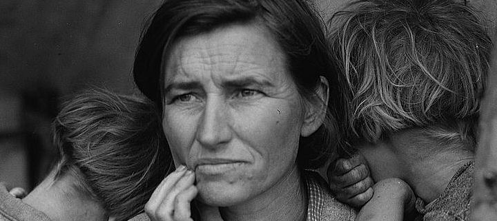 Dorothea Lange, Madre migrante, 1936, New York, The Museum of Modern Art